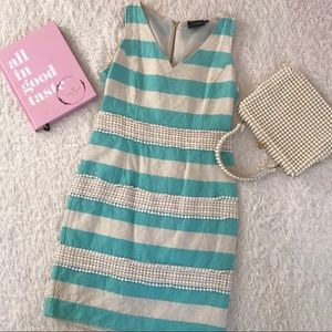 Just...Taylor Turquoise Striped Dress